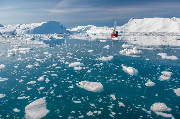 Des glaciers au Groenland.