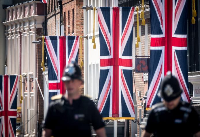 In Windsor hangen de vlaggen al uit.