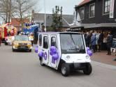 Elektrocar prominent voorop in Eibergse carnavalsoptocht