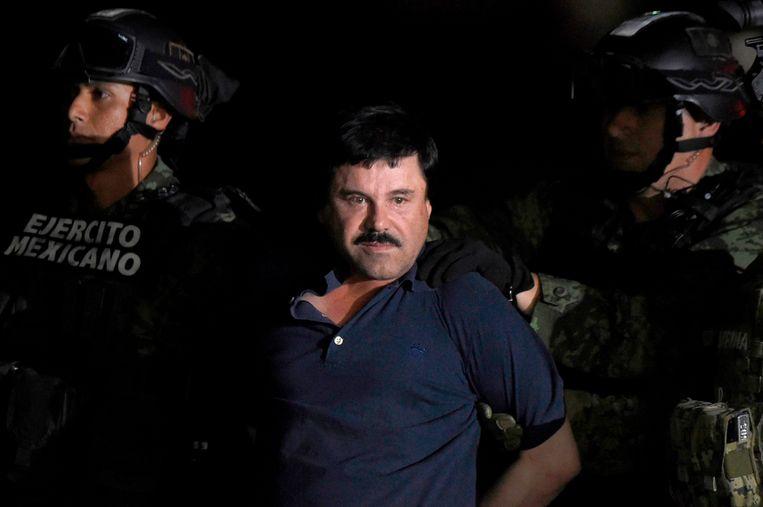 Joaquin 'El Chapo' Guzman bij zijn arrestatie.