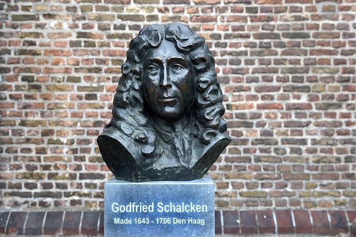 De, buste van Godfried Schalken in Made
