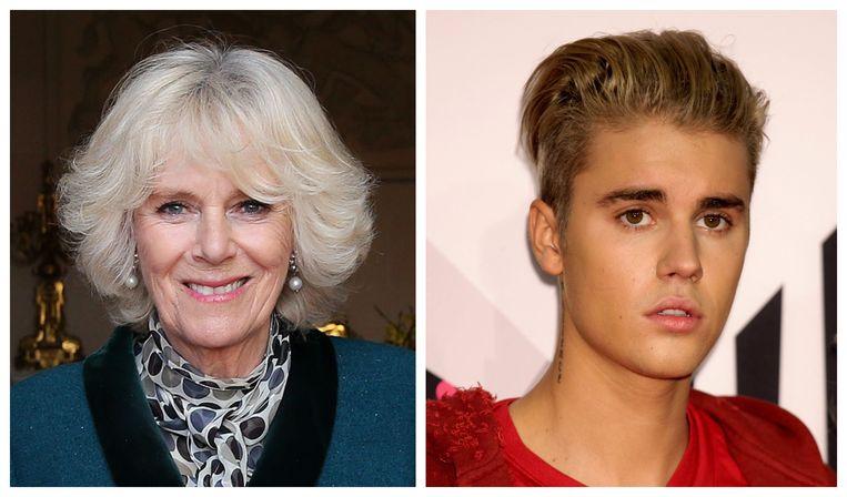 Camilla Bowles Parker en Justin Bieber