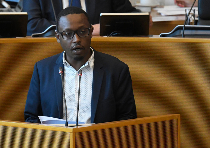 Le député wallon et porte-parole du PTB, Germain Mugemangango.