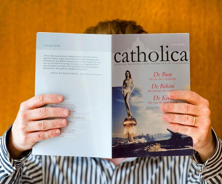 Cover van het christelijke katholieke tijdschrift Catholica.  Beeld ANP