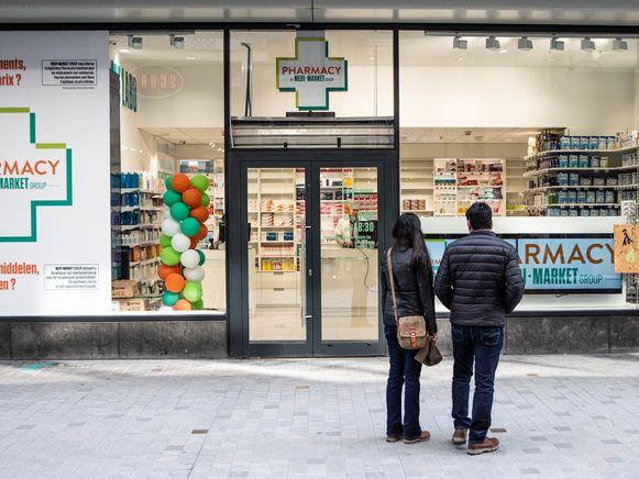 Een apotheek in Brussel.