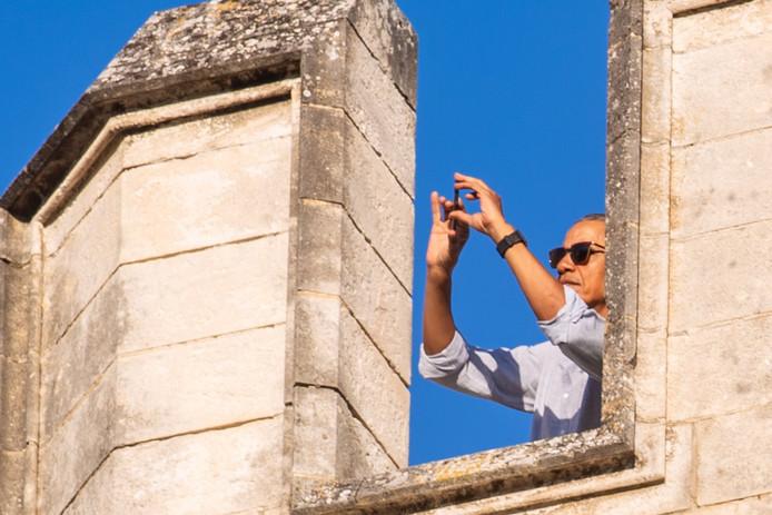 Barack Obama, en visite au Palais des Papes, à Avignon
