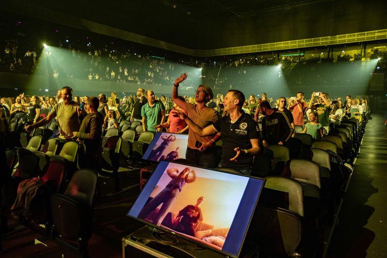 Nielson treedt op in de Ziggo Dome tijdens het eerste Larger Than Live concert.  Beeld Hollandse Hoogte /  ANP