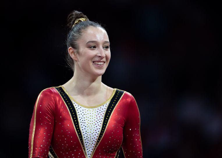 Nina Derwael mikte in Tokio op een gouden medaille.