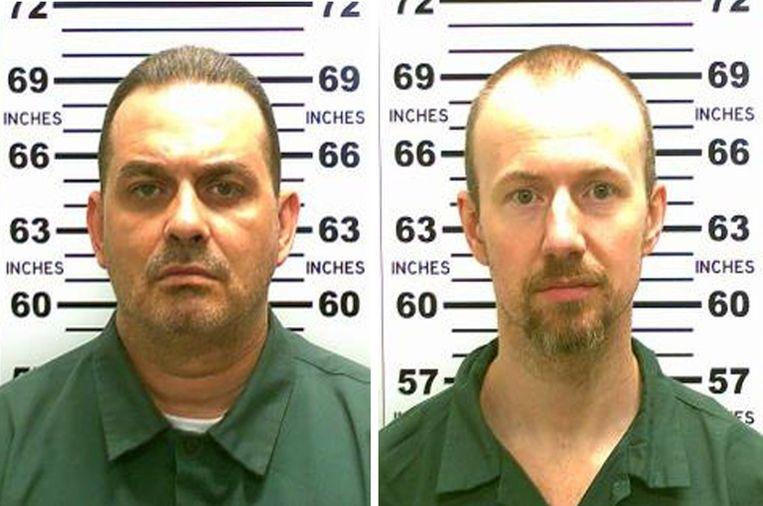 Richard Matt (links op de foto) is vrijdag doodgeschoten. David Sweat (rechts) is nog voortvluchtig. Beeld afp