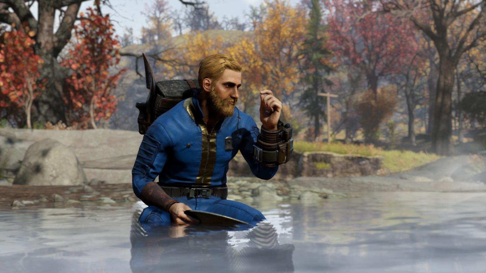 Beeld uit 'Wastelanders', de nieuwe uitbreiding van 'Fallout 76'.