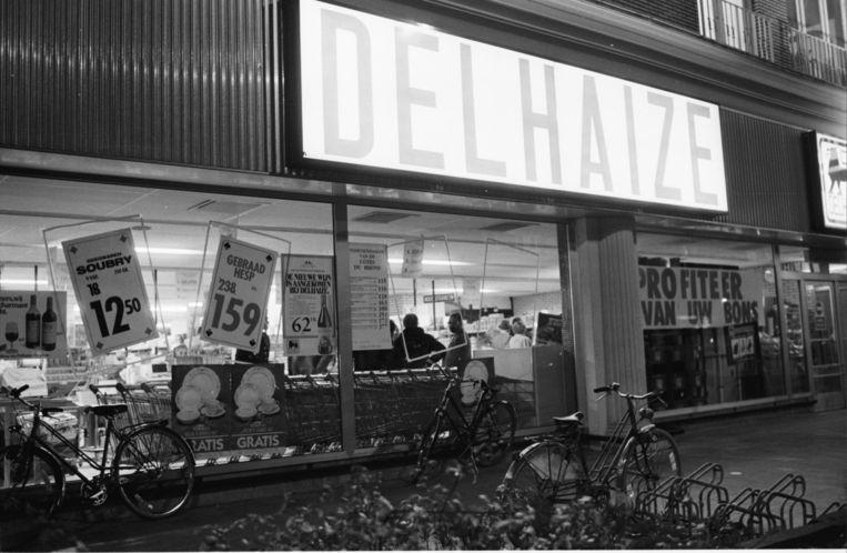 Archieffoto uit 1985 bij een overval op een Delhaize in Aalst.