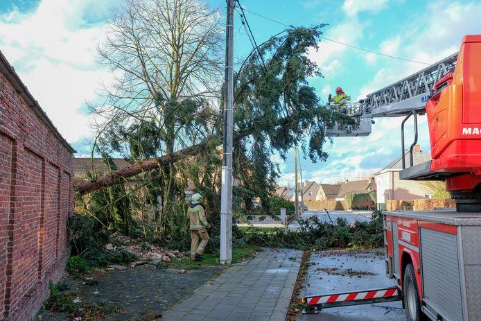 De schade na de storm van zondag was groot.