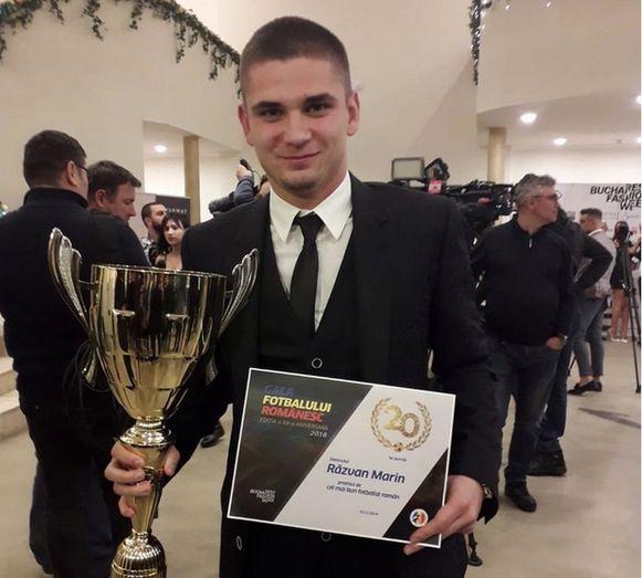 """Marin werd begin december gehuldigd als beste Roemeense voetballer van 2018. """"Ik word nu wel vaker herkend als ik ga shoppen of op straat wandel. En ik moet wat meer op de foto gaan."""""""