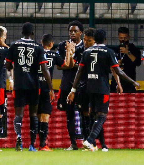 PSV nog één horde verwijderd van hoofdtoernooi na eenvoudige avond in Slovenië
