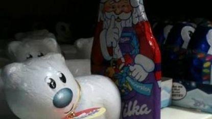 Chocoladen Kerstman smelt voor ijsbeer