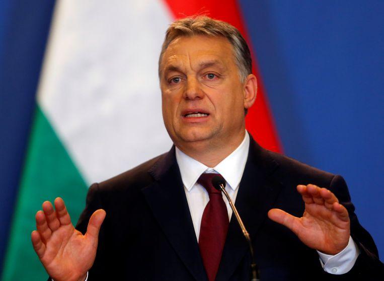 De Hongaarse premier Viktor Orbán. Beeld REUTERS