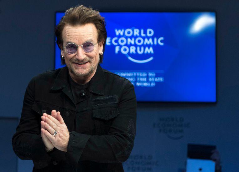 Bono sprak vorige week tijdens het afgelopen World Economic Forum in Davos.