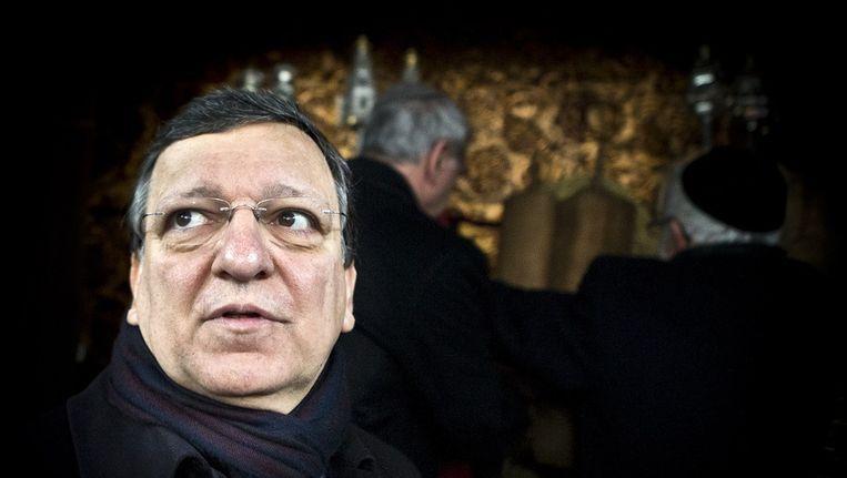 Jose Manuel Barroso, voorzitter van de Europese Commissie, gaat naar Lempedusa Beeld ANP