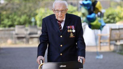 Britse veteraan (99) wandelde al bijna 25 miljoen euro bij elkaar voor zorgverleners