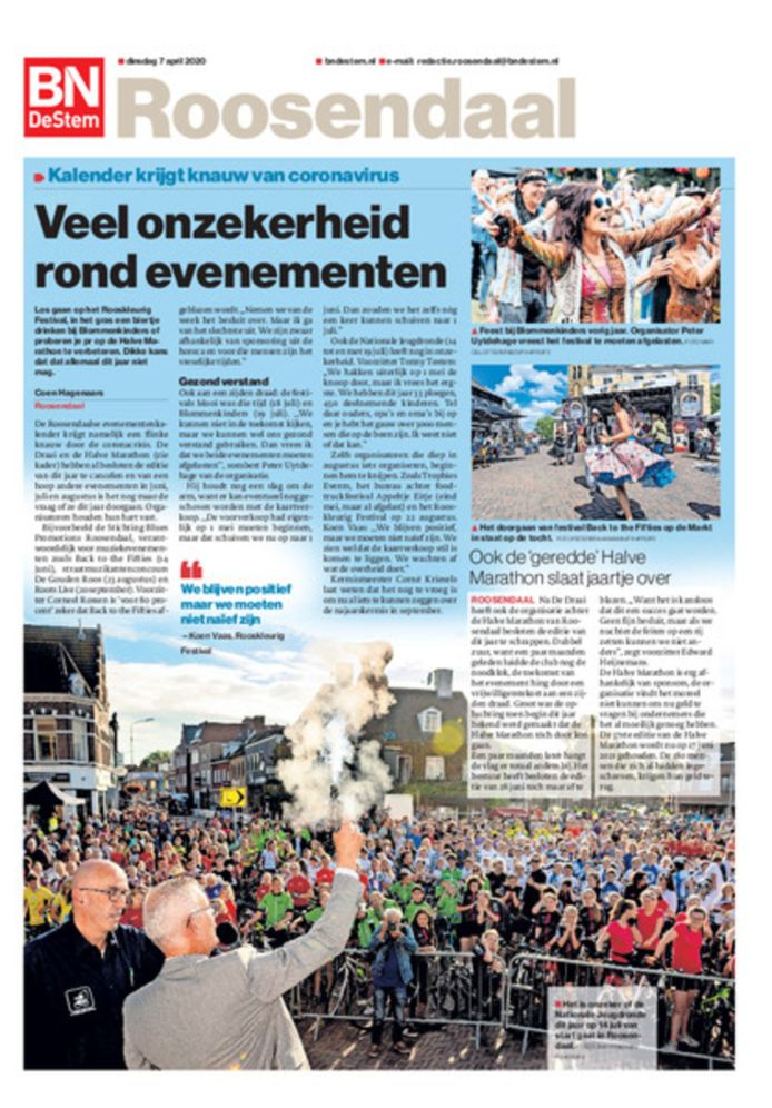 De 'Roosendaal 1' van dinsdag 7 april.