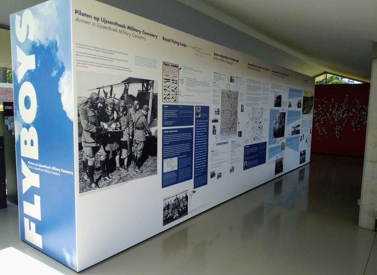 De thematentoonstelling 'Flyboys' in bezoekerscentrum Lijssenthoek in Poperinge.