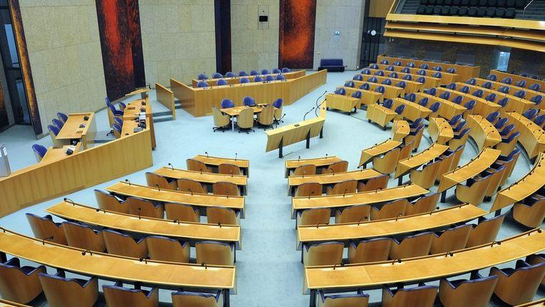 De plenaire zaal in de Tweede Kamer. Beeld ANP