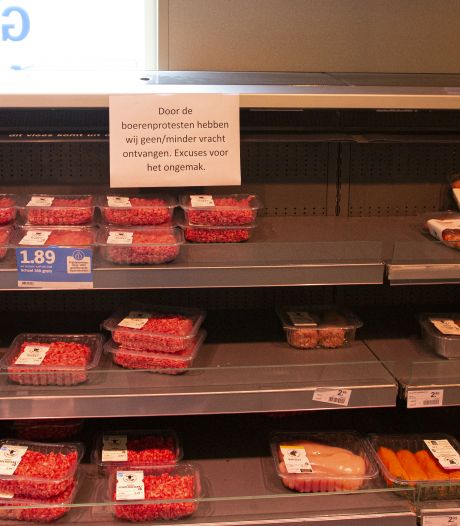 Nieuwe boerenactie veroorzaakt lege schappen in deze regio bij Albert Heijn-supermarkten