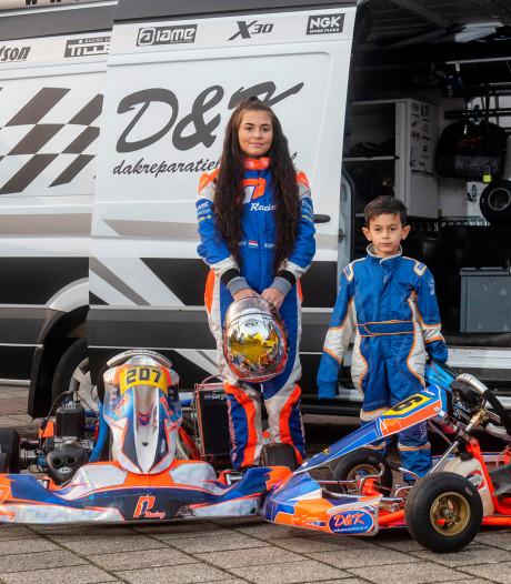 Karttalent Georgina (16) hard aangepakt op het racecircuit; broer Jantje (6) naar de F1?