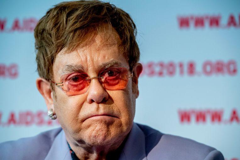 Het concert dat Elton John woensdag zou geven in de Ziggo Dome is verplaatst. Door ziekte van een bandlid staat de Britse zanger nu op 17 juni in de Amsterdamse concerthal, maakte concertorganisator MOJO dinsdag bekend. Beeld ANP