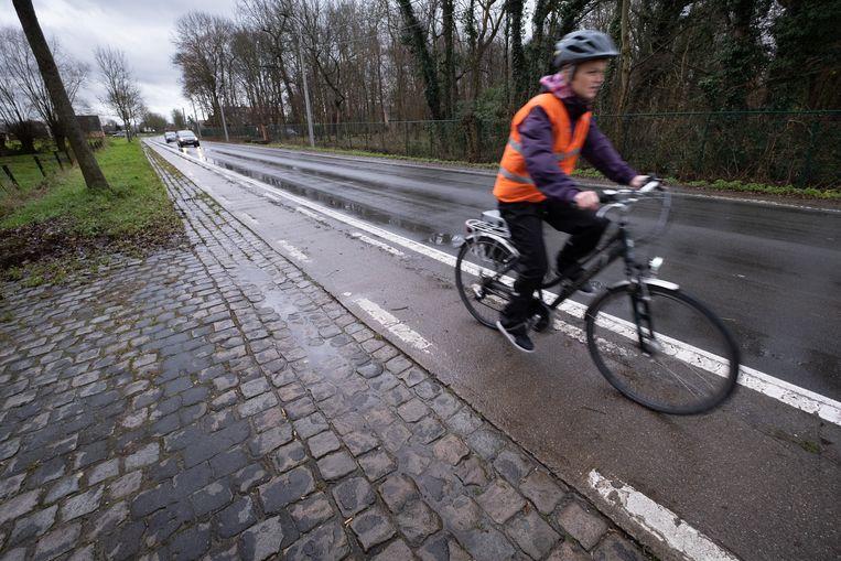 Het fietspad langs de Wolfstraat