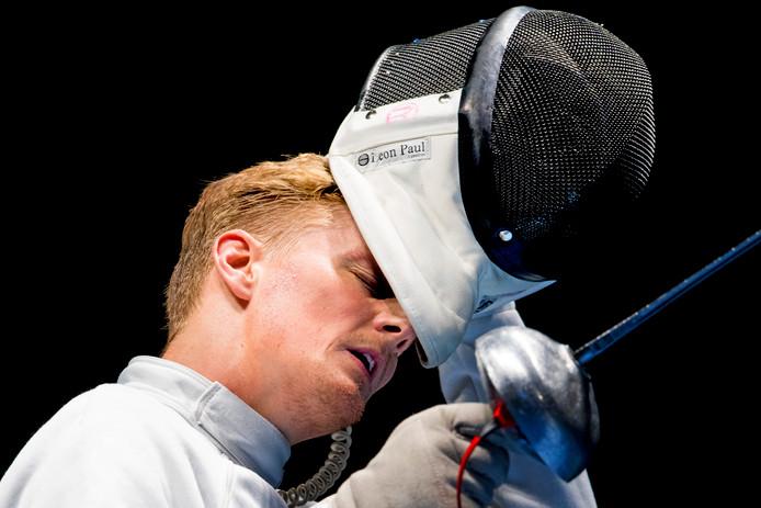 Bas Verwijlen tijdens de Olympische Spelen van Rio de Janeiro.