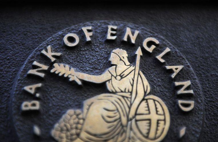 Het logo van Bank of England Beeld epa