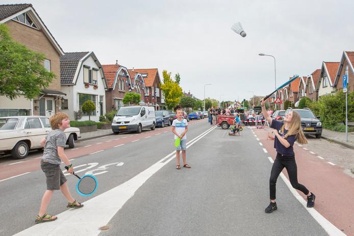 De afgelopen weken konden kinderen spelen op straat in de doorgaans drukke Buys Ballotstraat,