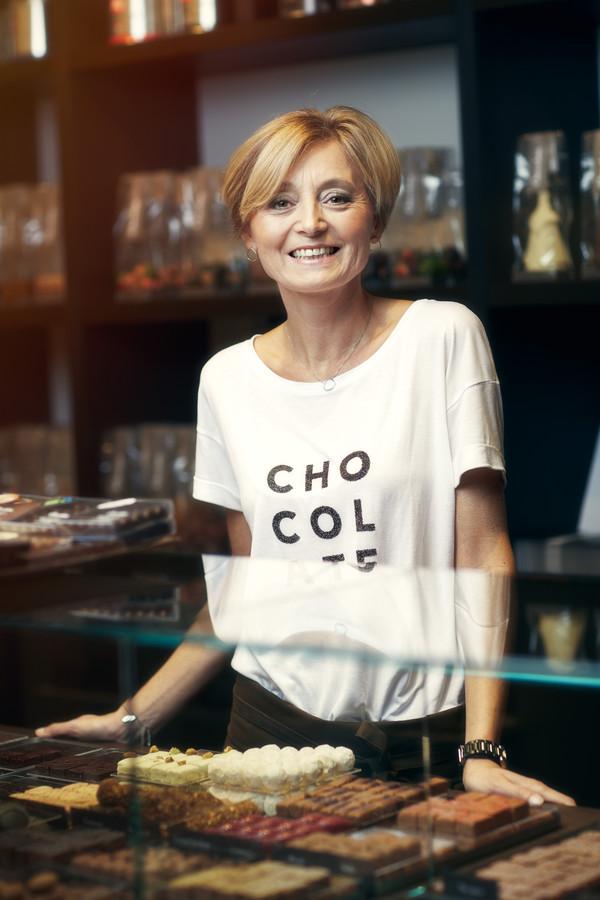 Nancy Wijsmantel in haar winkel Achter het Stadhuis