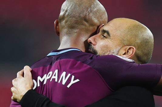 Guardiola (r) met Kompany