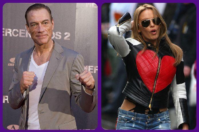 Jean-Claude Van Damme en Kylie Minogue.