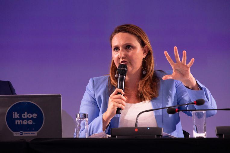 Gwendolyn Rutten neemt het woord namens Open Vld.