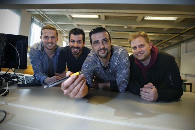 Patrick Arduini, Claudio Carracoi, Dieter Machiels en Nick Vandereyken.