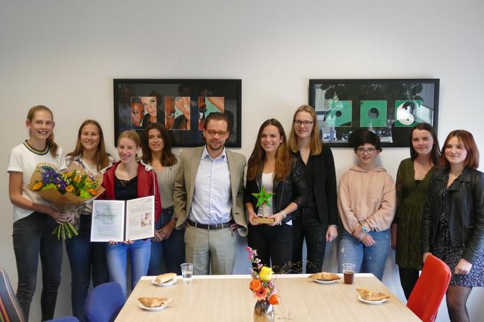 Leerlingenraad Sondervick College krijgt Ster van Veldhoven