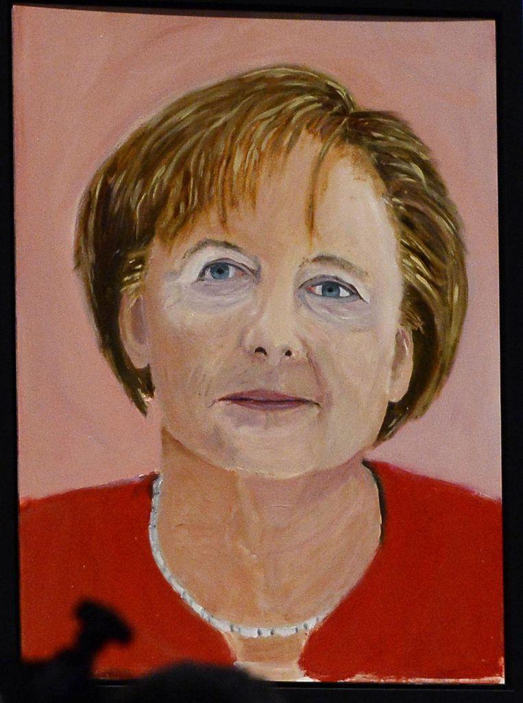 Het Duitse staatshoofd Angela Merkel. Beeld epa