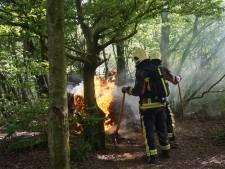 Kleine bosbrandjes in Gouda, Waddinxveen en Alphen