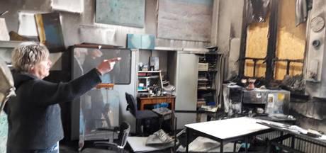 Gedupeerde kunstenares na brand in atelier Gemert: 'Dit is een nachtmerrie'