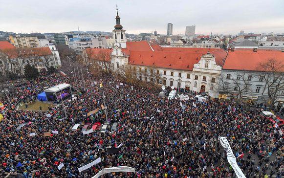 Het protest tegen de maffiapraktijken was groot.