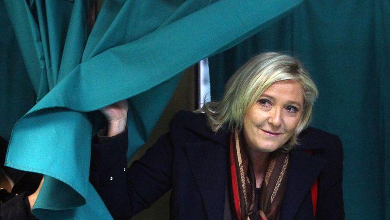 Marine Le Pen, leider van Front National, won geen enkele regio. Beeld null