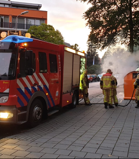 Brand in plasticcontainer in Enschede