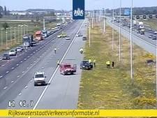 Monsterfile op A2 bij Breukelen door oliespoor: twee uur vertraging