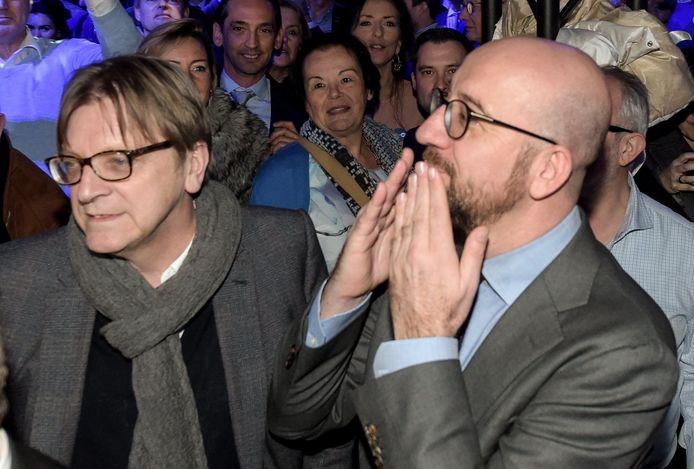 Guy Verhofstadt en Charles Michel: als de ene het haalt, mag de andere zijn droom opbergen. Want twee Belgische liberalen met een Europese topfunctie, dat zou van het goede te veel zijn.
