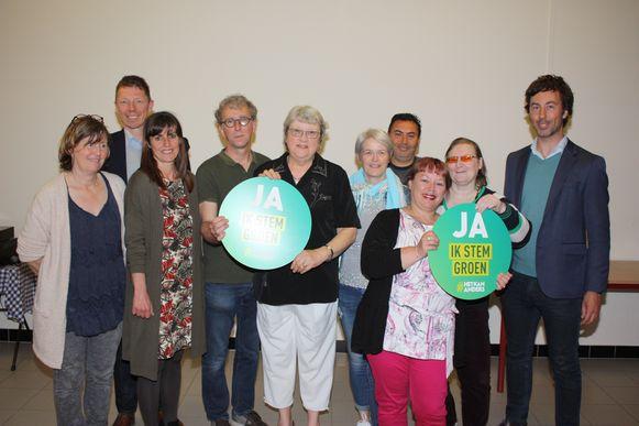Het nieuwe bestuur van Groen Bredene met Wouter De Vriendt