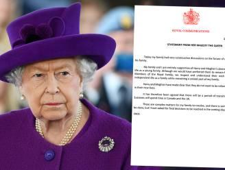 De verklaring van de Queen over Harry en Meghan woord voor woord