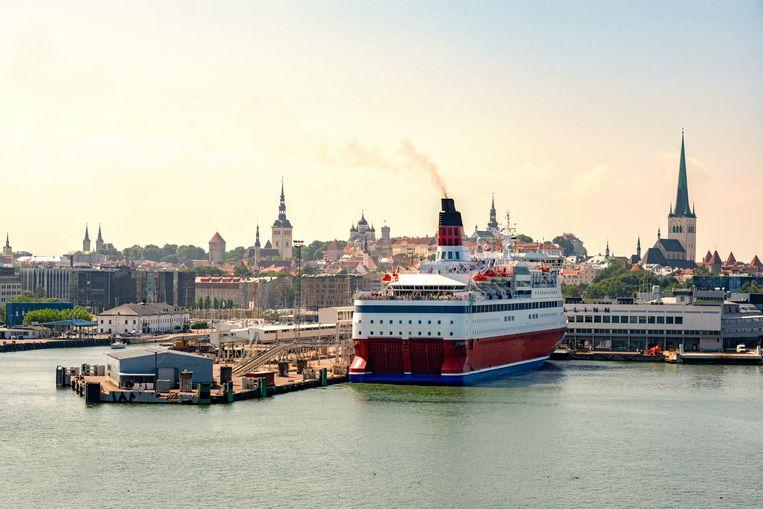 Momenteel vaart er twaalf keer per dag een veerboot tussen Tallinn en Helsinki. Die doet er tussen de drie en vier uur over.  Beeld Hollandse Hoogte